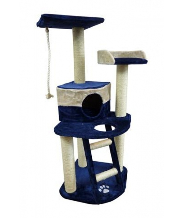 Когтеточка Осло 49 x 49 x 120см голубо – бежевая/ Scratcher Oslo 49 x 49 x 120 cm blue/beige 210142