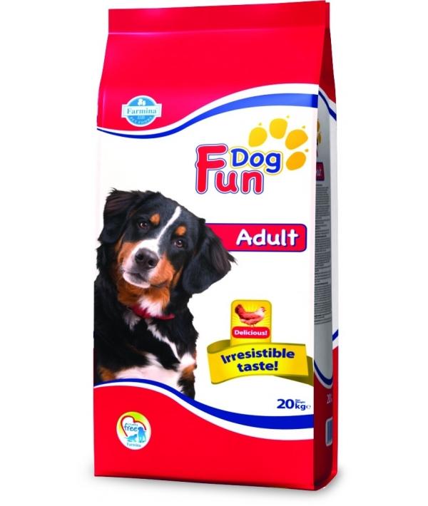 Fun Dog Adult Сухой корм для собак средних пород с курицей 9201