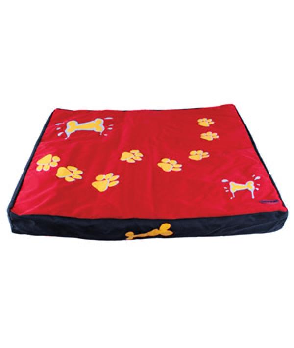 Лежак – коврик красный с лапами, 80*70*8 см (5615955)
