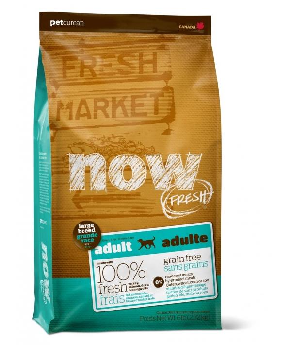 Беззерновой для Взрослых собак Крупных пород с Индейкой, Уткой и овощами (Fresh Adult Large Breed Recipe Grain Free 27/13)