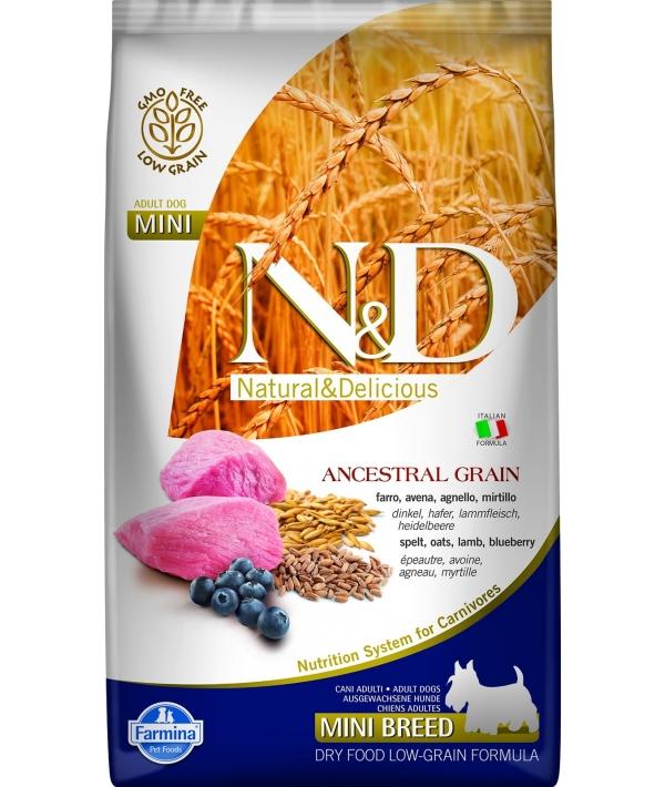 N&D LG Сухой корм для собак мелких пород с ягненком и черникой 4018