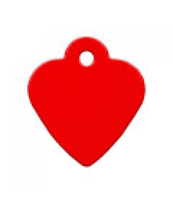 Адресник Сердце малое красное, 26*29мм, алюминий (7323 – 04)