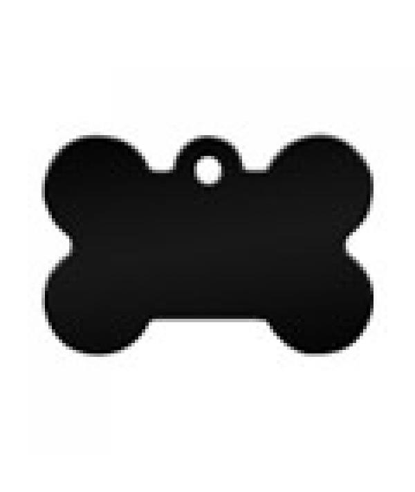 Адресник Косточка малая черная 30*12мм, алюминий (7700 – 08)