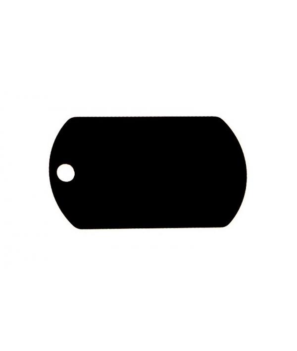 Адресник Военный черный, 52*29мм, латунь (7337 – 08)