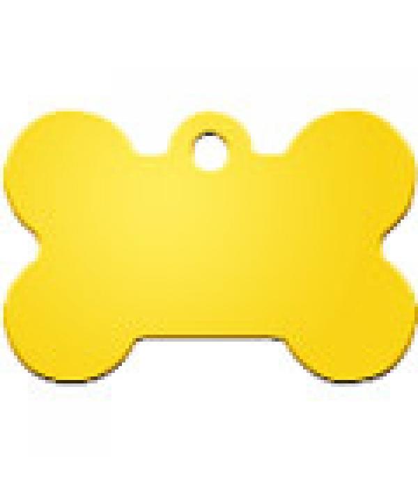 Адресник Косточка большая желтая, 38*26мм, алюминий (7324 – 07)