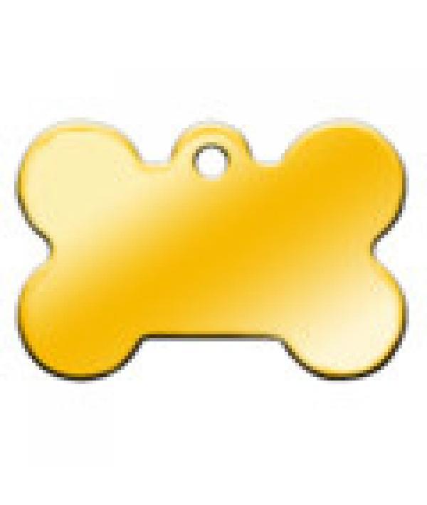 Адресник Косточка большая золотая, 38*26мм, латунь (7324 – 03)