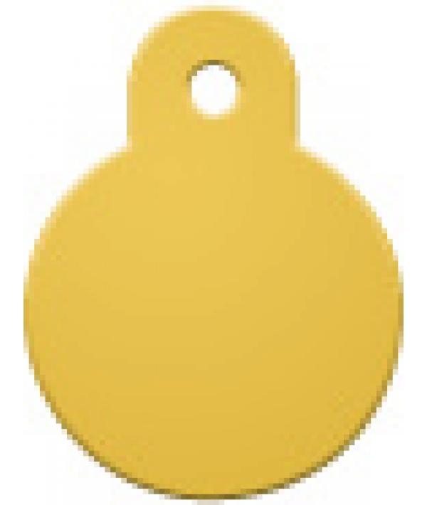 Адресник Круг малый желтый, 21*28мм, алюминий (7326 – 07)