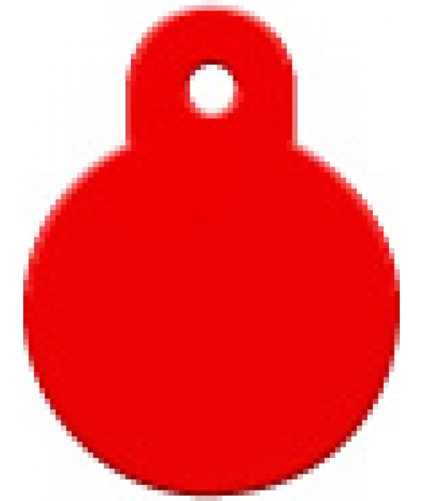 Адресник Круг малый красный, 21*28мм, алюминий (7326 – 04)