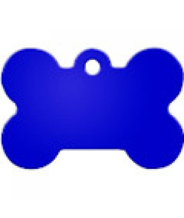 Адресник Косточка большая синяя, 38*26мм, алюминий (7324 – 05)