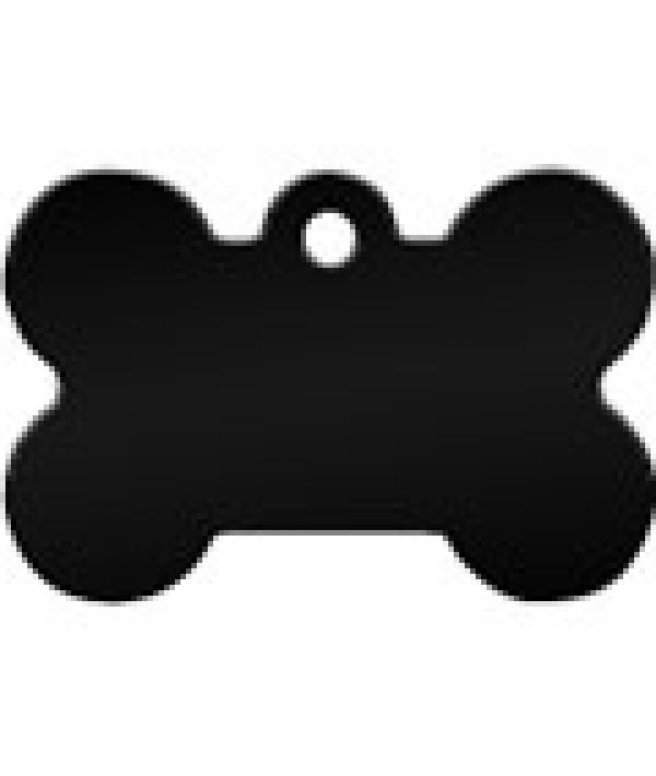Адресник Косточка большая черная, 38*26мм, алюминий (7324 – 08)