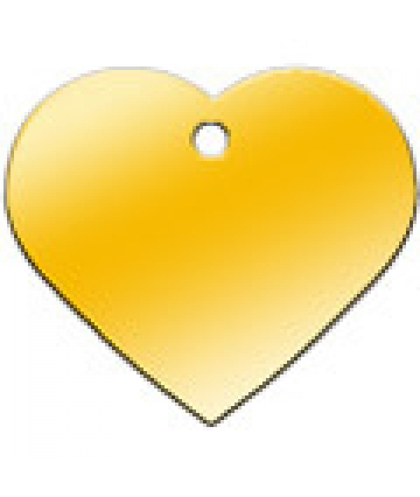 Адресник Сердце большое золотое, 37*35мм, латунь (7322 – 03)