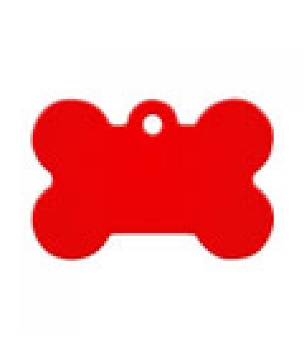 Адресник Косточка малая красная, 30*12мм, алюминий (7700 – 04)