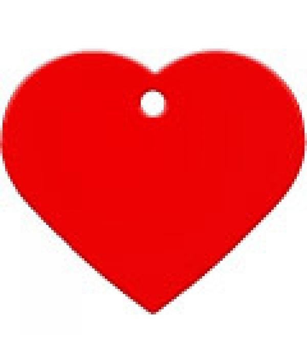 Адресник Сердце большое красное, 37*35мм, алюминий (7322 – 04)