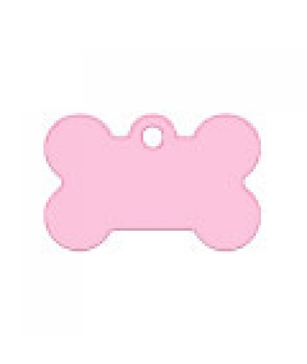 Адресник Косточка малая розовая, 30*12мм, алюминий (7700 – 22)