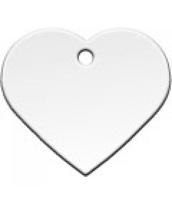 Адресник Сердце большое серебрянное, 37*35мм, латунь (7322 – 02)